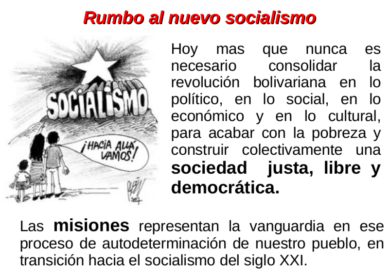 Socialismo y Misiones Sociales